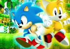 Sonic The Hedgehog-A3 Laminado Poster-Tails-generaciones - 1 2 3 4