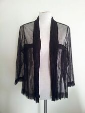 Chic! Grace Hill size 10 black tulle open front top in excellent condition