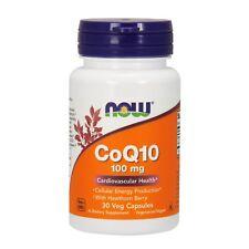 NOW Foods CoQ10, 100 mg w/Hawthorn Berry, 30 Veg Capsules