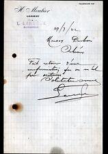 """LORIENT (56) GRANDE EPICERIE DE PARIS """"H. MOULIER / L. LAROQUE succ"""" en 1922"""