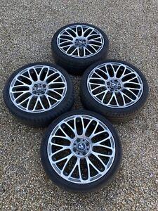 """17"""" GENUINE FIAT ABARTH 500 595 TURISMO / ALLOY WHEELS SET Punto 4x98 Alfa Tyes"""
