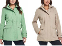 Weatherproof Women's  Anorak Detachable Hood Full Zip Snap Jacket S-L Color Var