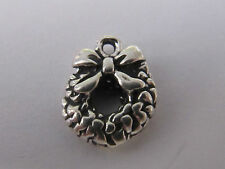 CHRISTMAS WREATH STERLING SILVER CHARM - NEW (LAST ONES!!)