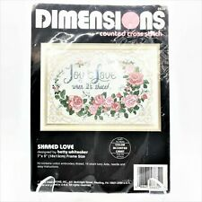 New ListingCounted Cross Stitch Kit - Dimensions - Shared Love - Vtg 1992 - 14 Count