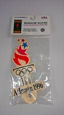 1996 Olympic Games Window Waver NEW Suction Cup Atlanta Georgia USA Made Sign