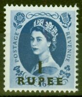 B.P.A in Eastern Arabia 1961 1R on 1s6d Grey-Blue SG91 V.F Very Lightly Mtd Mint