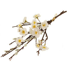 Pussy Willow Bundle of 1 x Artificial Stem With 1 x White Blossom Branch 40cm