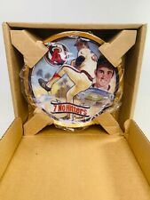 Nolan Ryan Mr. Fastball Gold Rimmed Collectible Plate by Sports Impressions