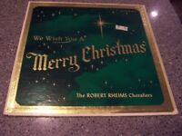 """The Robert Rheims Choraliers """"We Wish You a Merry Christmas"""" GREEN COLOR LP"""