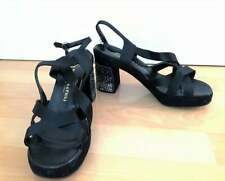 vintage black sandals shoes Bologna&Figli