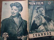 "MON FILM 1953 N 339 "" IVANHOE "" avec  ROBERT TAYLOR et JOAN FONTAINE ."