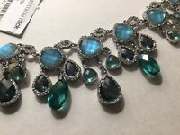 $185 Jenny Packham Blue Skies Stone Crystal New Necklace / Matte Nordstrom