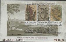 Australia Cinderella Koalas 1988-89 $6 Koala Research MS MNH