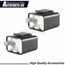 2 x Adjustable LED Flasher Relay Turn signal Blinker Light Fit For Motor 2Pin