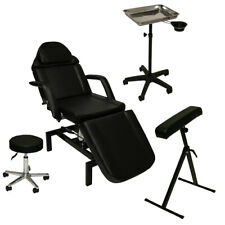 InkBed Tattoo Package Hydraulic Massage Table Chair Arm Bar Tray Salon Equipment