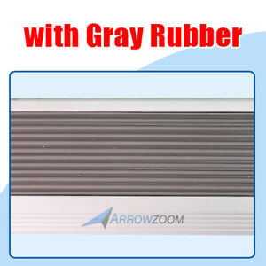 Arrowzoom Anti-Slip Strips Aluminum Stair Nosing Rubber Nose Stair Treads KK1180