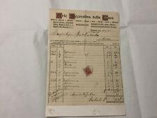 VECCHIA FATTURA ARTE DECORATIVA DELLA CASA 1928 TORINO.