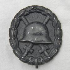 "GERMANY original WW1 era German ""stahlhelm"" black Wound Badge; great condition"