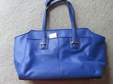 Authentic COACH leather satchel - cobalt blue
