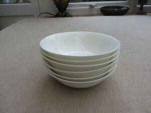 6 John Lewis white bone china bowls utter quality stylish