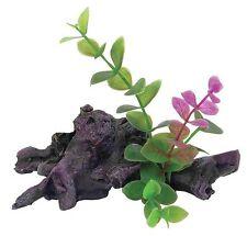 Mini dark driftwood racines d'arbres & plantes aquarium ornement terrarium décoration