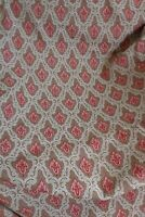 """Vintage Mid Century Pair of Curtains Brown & Red - 60"""" W x 80"""" D"""