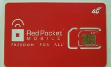 1 Red Pocket Mobile 4G Gsmt 3-in-1 Sim card Reg, Micro, Nano. Unlocked