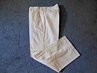 Michael Kors Men 31X30 Light Beige Khakis Chino Trousers Casual Pants Flat Front