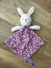 LITTLE NUTMEG Pink Floral Bunny Rabbit Comforter Soft Toy BNWOT