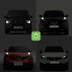 2 Light Bulbs To White LED Night Lights/Lights Of Position For Nissan Pathfinder