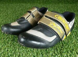 Vintage 90s Carnac LeMond UCS black/yellow cycling shoes size 43