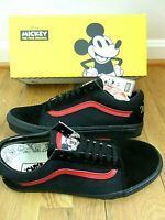 Vans X Disney Mens Old Skool Mickey Mouse Club Skate shoes Black Red Size 13 NWT
