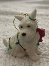 Vintage Mary Engelbreit Scottie Dog Christmas Ornaments - New In Box