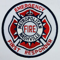 Nashville Metropolitan Fire Emergency First Responder Tennessee Patch (C5-B)