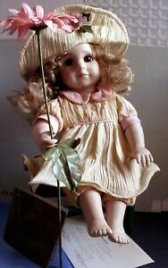 GEORGETOWN COLLECTION DOLLS DARLING DAISY LITTLE BLOOMERS WITH BENCH 1995 COA