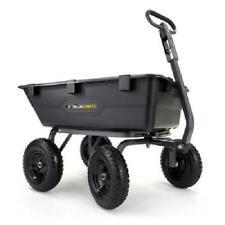 Gorilla Carts Poly Yard Dump Cart 7 cu. ft. 4-wheeled 1200 lb. Weight Capacity