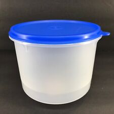 Tupperware Round Storage Container 8 Cup Sheer w/ Blue Seal #264 #227 New