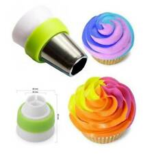 3-Color Icing Piping Bag Russian Nozzle Tips Adapter Coupler Cake Decor Tool ybx