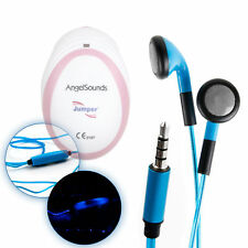 Blue Neon Light-Up Earphones for AngelSounds Fetal Doppler Baby Heart Monitor