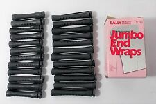 "Lot of 24 Concave Professional Perm Rods 2"" & 3"" Elastic Button End - End Wraps"