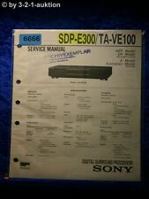 Sony Service Manual SDP E300 /TA VE100 Digital Surround Processor (#6666)