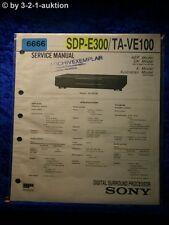 Sony Service Manual SDP E300 /TA VE100 Digital Surround Processor (#6666)