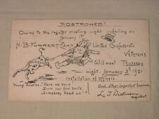 1901 UNITED CONFEDERATE VETERANS  N.B. FORREST CAMP MEETING