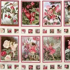 Blossom Flower Fairies Printed Quilting Cotton Fabric 12 Panels Michael Miller