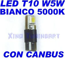 CANBUS SMD LED BIANCO 5000K T10 W5W NO ERRORE SPIE obd