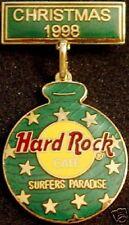 Hard Rock Cafe Surfers Paradise 1998 Christmas Pin Ornament - Hrc Catalog #9432