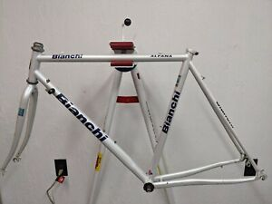 1999 Bianchi Alfana steel road bicycle frame fork Made in Italy 55cm top tube