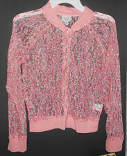 Girls Size M 10 12 Pink Lace Bomber Jacket Beauty and the Beast by D-Signed NWT