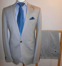 New MARKS & SPENCER Mens 42 L Modern Slim SUIT Grey JACKET TROUSERS W 36x31 L
