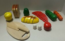 NICE!!! Melissa & Doug Cutting Play Food Set With Hand-Painted Wooden lot